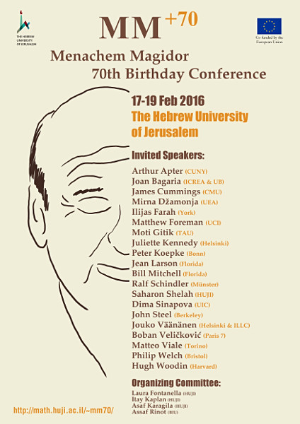 Menachem Magidor 70th Birthday Conference